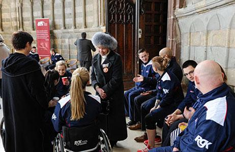 Lady Hughes DL attends launch of European Wheelchair Basketball championships
